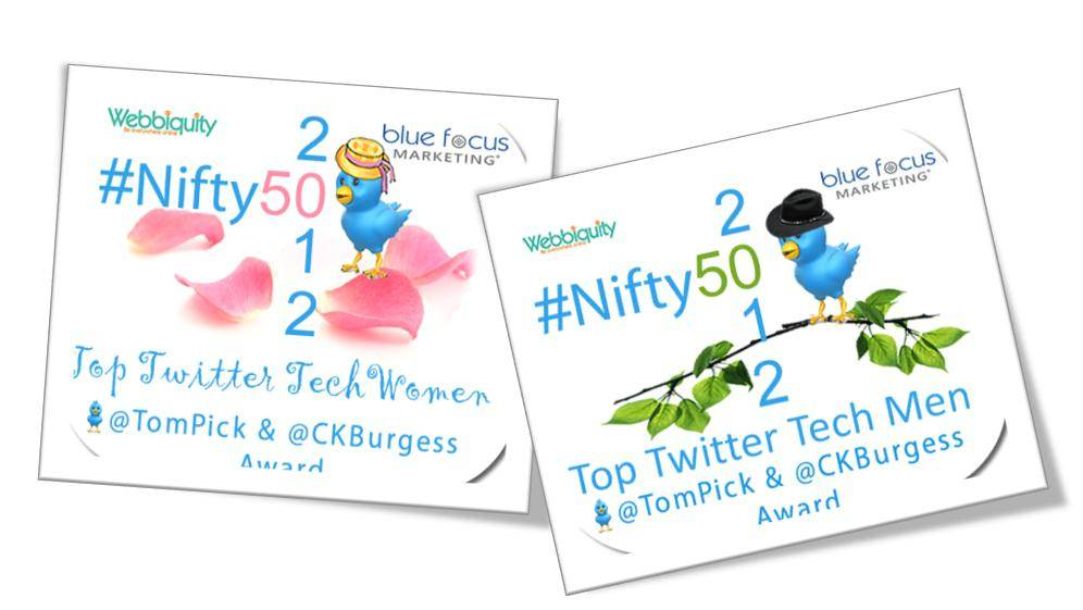 2012 #Nifty50 Top Men of Twitter